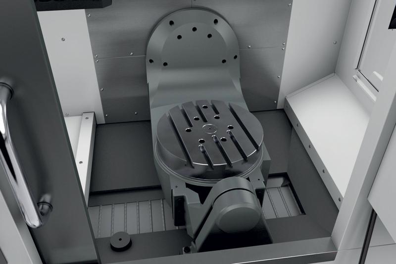 Nello sviluppo del centro di lavoro UMC-500SS, i progettisti Haas hanno prestato particolare attenzione agli aspetti ergonomici della macchina allo scopo di assicurare un miglior controllo della lavorazione da parte dell'operatore.