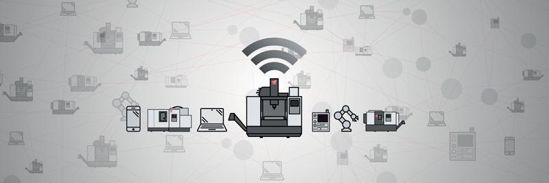 Tutte le nuove macchine di Haas hanno la capacità di inviare dati dal CNC della macchina a un sistema di dati centralizzato, permettendo di integrare i dati senza problemi in ambienti Industry 4.0 nuovi o esistenti.