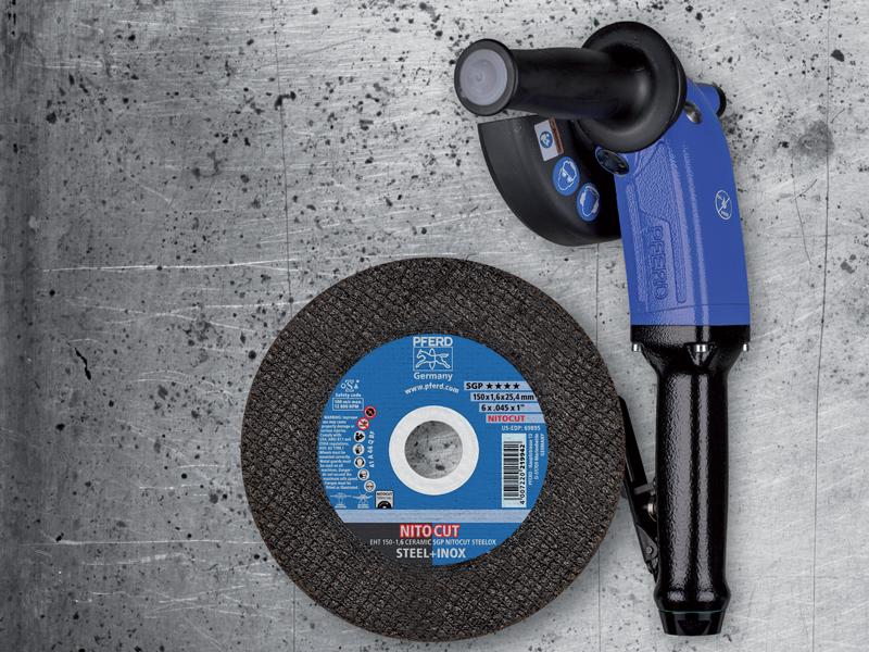 NITOCUT è il primo sistema al mondo per il taglio manuale con una velocità periferica di 100 m/s.