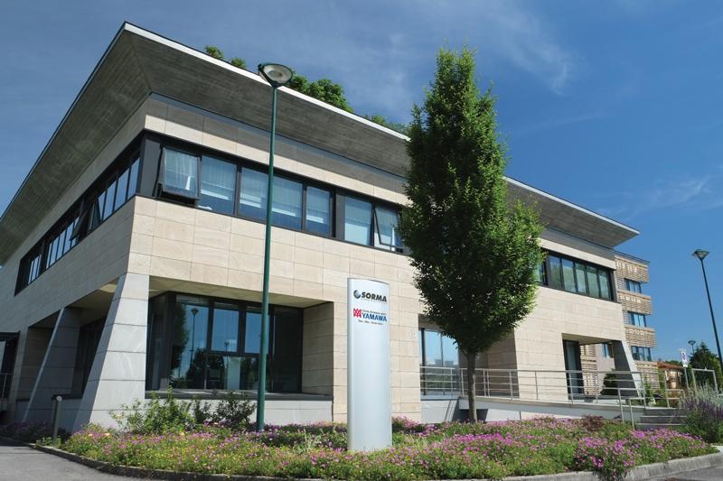 La sede di Sorma, situata a Mestre: l'azienda nasce nel 1950 a Venezia e oggi distribuisce in 57 paesi.