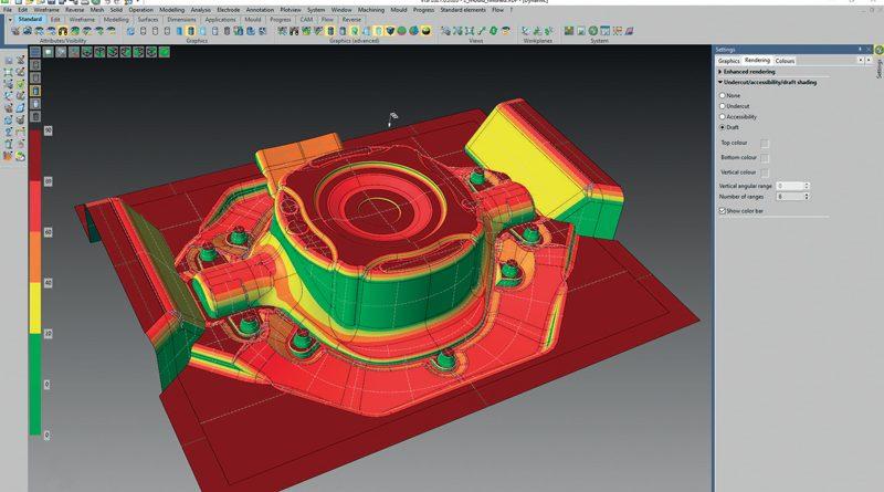 Visualizzazione dello sformo del modello secondo una scala di colori.