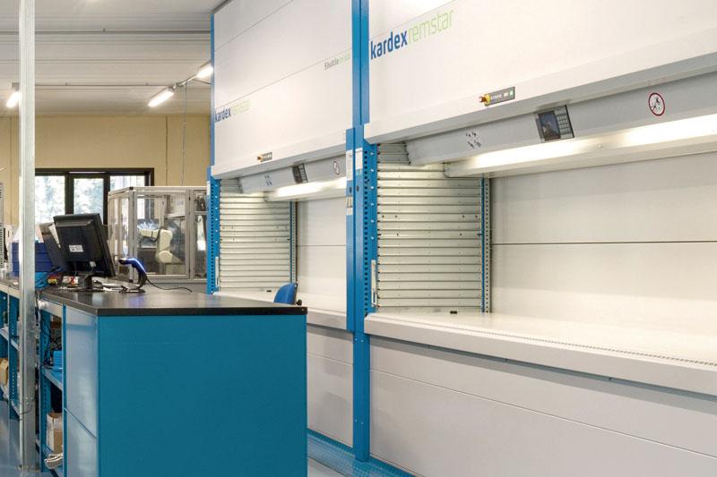 Vista del magazzino. Max Tool ha 5.000 prodotti a stock in pronta consegna.