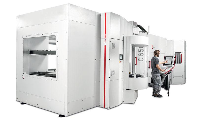 Il sistema di automazione HS flex heavy assicura un carico trasportabile fino a 1.200 kg.