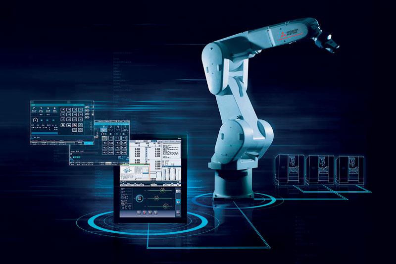 La funzione DRC (Direct Robot Control) consente agli operatori di macchine utensili di programmare rapidamente i robot direttamente dal pannello CNC utilizzando i codici G nel programma di lavoro, senza competenze specialistiche.