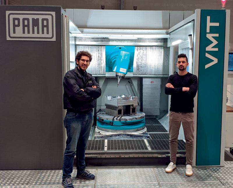 Da sinistra: l'Ing. Nazareno Martinelli, Application Engineer di Pama e Raffaele Aiardi, Ufficio Commerciale di Pama.