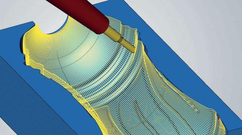 """Una nuova procedura di proiezione radiale assicura la necessaria rapidità nel calcolo dei percorsi utensile. La nuova """"Lavorazione radiale a 5 assi"""" consente di programmare con facilità i contorni delle bottiglie."""