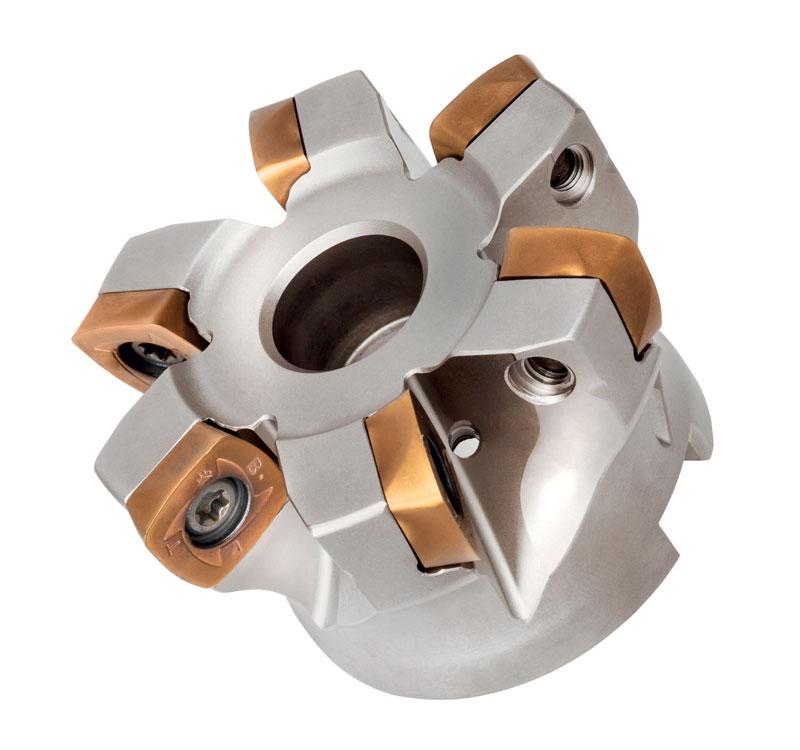 Fresa a fissaggio meccanico TJ401 con inserto quadrato.