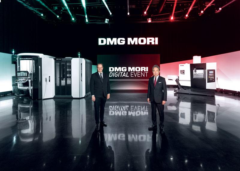 Da destra: il Dr. Masahiko Mori, Presidente di DMG MORI COMPANY LIMITED, e Christian Thönes, Presidente del Consiglio di Amministrazione di DMG MORI AKTIENGESELLSCHAFT.