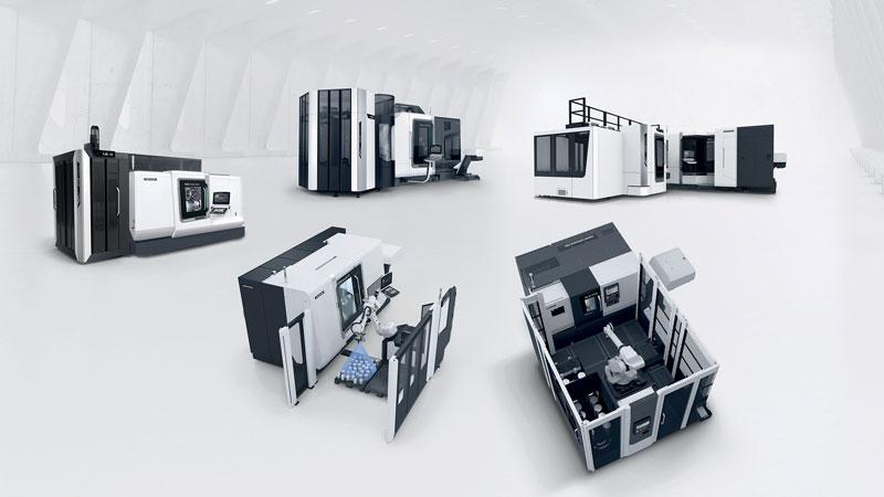 portafoglio modulare di DMG MORI comprende 53 soluzioni di automazione con 13 linee di prodotti per la movimentazione pezzi o pallet, includendo l'hardware e il software completi.