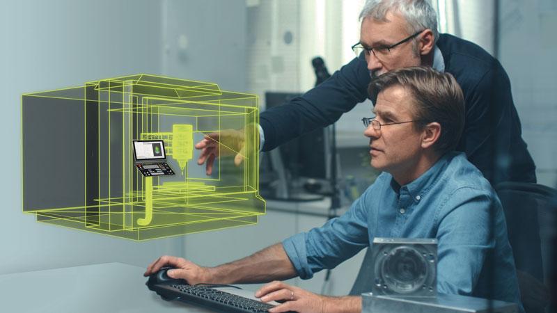 Sulla base del know-how HEIDENHAIN sull'ambiente di produzione, la Fabbrica Digitale offre alle piccole e medie imprese una panoramica digitale a 360° di tutte le fasi di processo: dalla formulazione dell'offerta fino alla consegna.