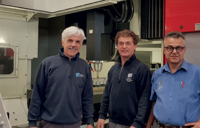 I tre titolari di SCS. Da sinistra: Luigi Bordoni, Doriano Carbonari e Alberto Carbonari.