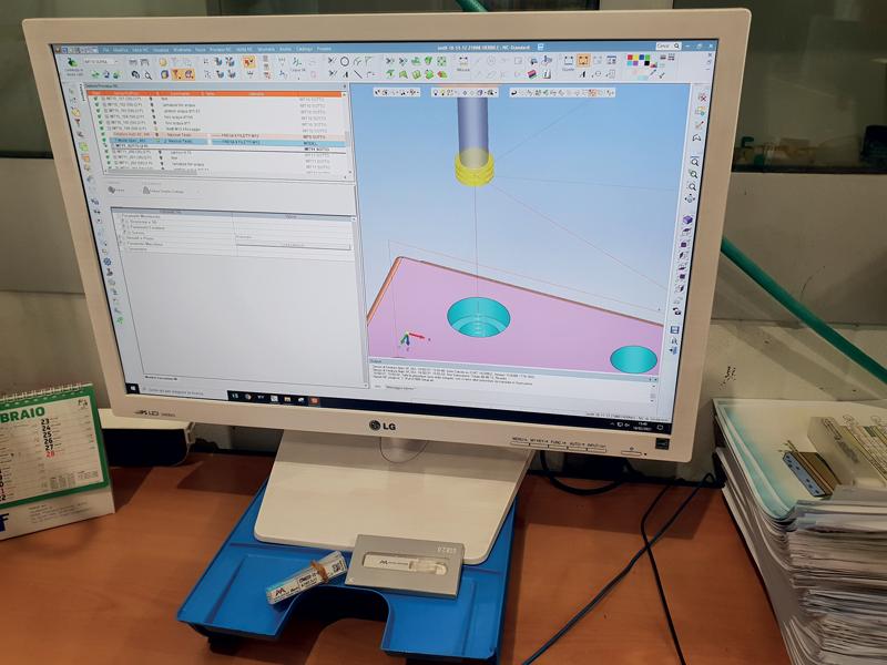 Dettaglio CAM: programmazione filettatura con tecnologia MOLDINO EDT.