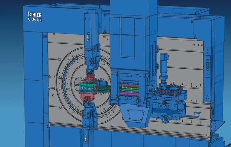 Progetto completo su macchina Bihler GRM-NC con sistema di formatura lineare.