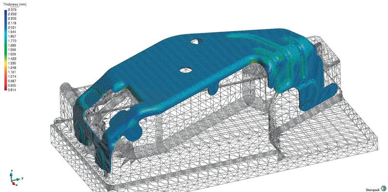 L'ufficio tecnico del gruppo Bora utilizza il software di simulazione STAMPACK.