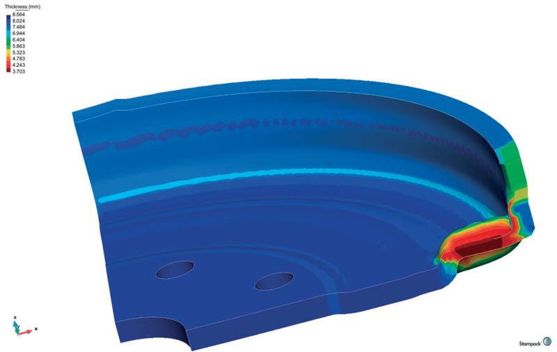 x Per la fase di progettazione CAD e simulazione/verifica CAE nell'ambito dello stampaggio a freddo della lamiera, il gruppo Bora utilizza STAMPACK.