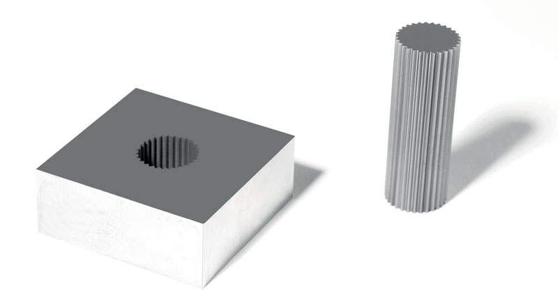 Componenti realizzati grazie agli impianti per elettroerosione a filo di GF Machining Solutions.