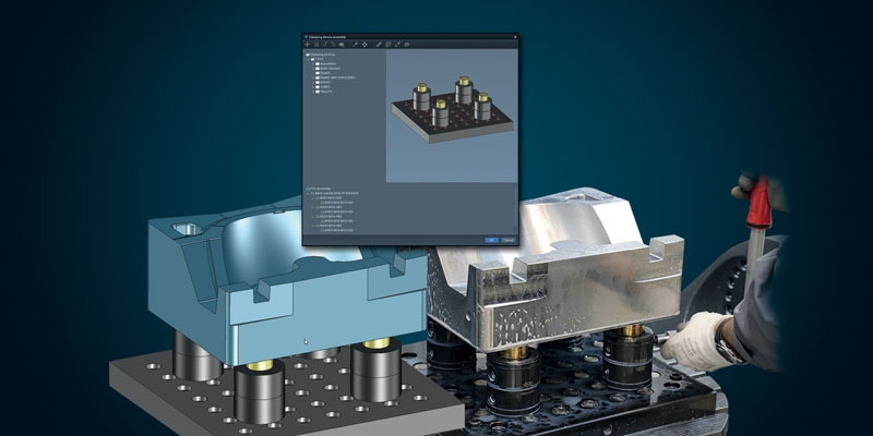 Libreria virtuale di sistemi di bloccaggio per avere il pieno controllo sulle condizioni di serraggio della macchina reale.