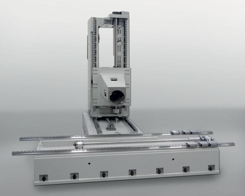 I centri EVO impiegano come sistema di scorrimento degli assi guide lineari di notevoli dimensioni con un adeguato numero di pattini a rulli incrociati.