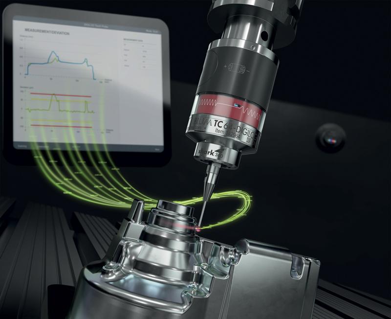 La tecnologia DIGILOG di BLUM offre una vasta gamma di nuove opzioni, per esempio la misurazione a scansione nelle macchine utensili. E il produttore tedesco fornisce anche il software di valutazione corrispondente BCS 3.0.
