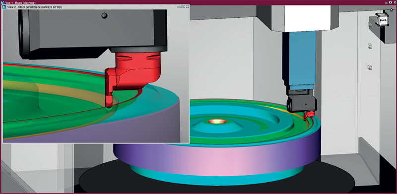 Simulazioni più veloci per il controllo di collisione in operazioni di tornitura di pezzi di grandi dimensioni.