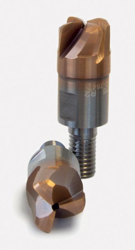 Testine in metallo duro integrale FUXA® ad alto avanzamento, con lubrificazione centrale, Z3-Z4.