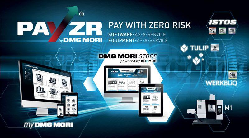 DMG MORI STORE powered by ADAMOS: accesso centrale e comodo al mondo dei servizi basati sui dati e dei modelli di business digitali di DMG MORI.