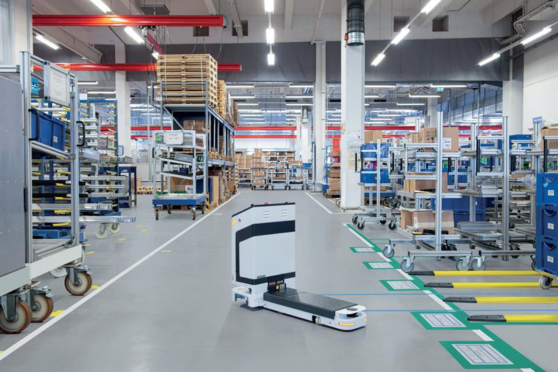 Con Locator i robot mobili come AGV e AMR posson muoversi localizzando autonomamente la loro posizione.