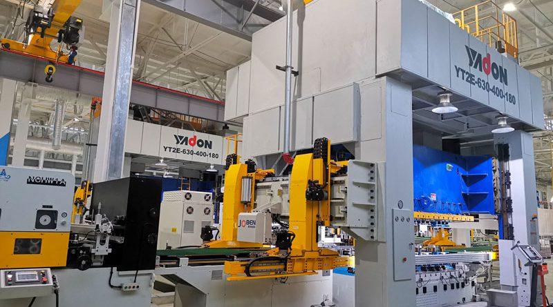 Yadon ha consegnato le prime due presse Schuler da 630 tonnellate in meno di quattro mesi dopo aver ricevuto l'ordine.