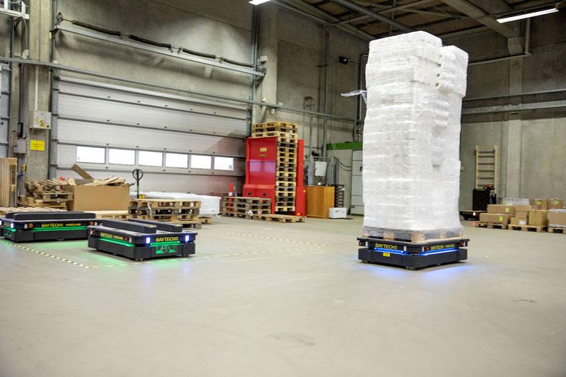 Il software MiR Fleet assicura la corretta distribuzione delle mansioni tra robot.