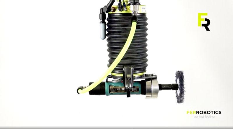 Il dispositivo ACF-Kit di FerRobotics è in grado di variare il percorso del robot.