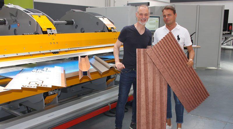 Marco Cappello, CEO di Thalmann (a sinistra) e Dieter NiederfrinigerGEneral Manager di Alpemac.