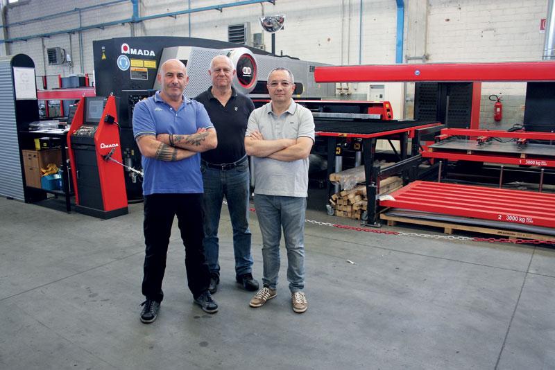 Maurizio Gallini, Direttore Generale di Med Matrix (a destra) insieme agli altri due soci fondatori di Med Matrix Pivetti e Garuti.