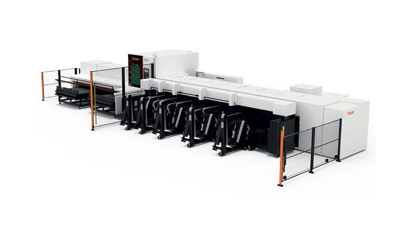 FT-150 FIBER può eseguire molteplici processi, tra cui taglio, maschiatura, perforazione e perforazione termica.