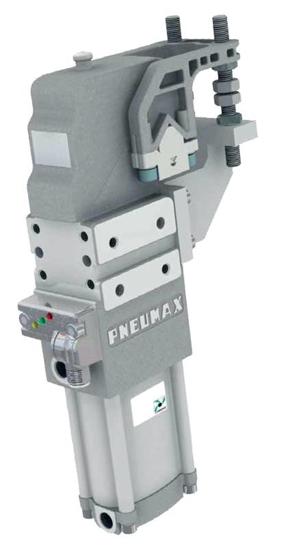 Unità Rotante Serie P con sistema di rilevamento della posizione del freno e sistema di sblocco manuale con riarmo automatico.