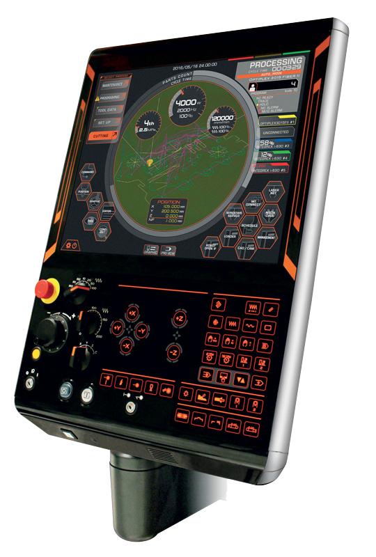 """Optiplex 3015 DDL è equipaggiata con il CN MAZATROL PreviewG, per tagli ottimali a grande velocità ed elevata precisione, ampio touch screen da 19"""" con funzionamento simile a quello di uno smartphone o tablet."""