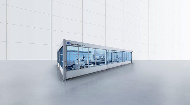 TRUMPF ha lanciato la nuova cella di piegatura automatizzata TruBend Cell 5000 che rende la piegatura completamente automatica anche per i lotti più piccoli.