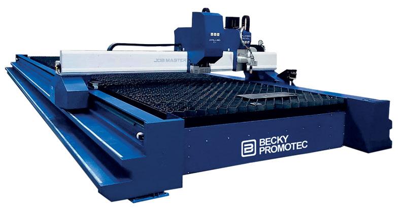 Job Master è l'ammiraglia della gamma Becky-Promotec nel campo del taglio plasma; un sistema capace di offrire performance di velocità e accelerazione tipiche di una macchina laser.