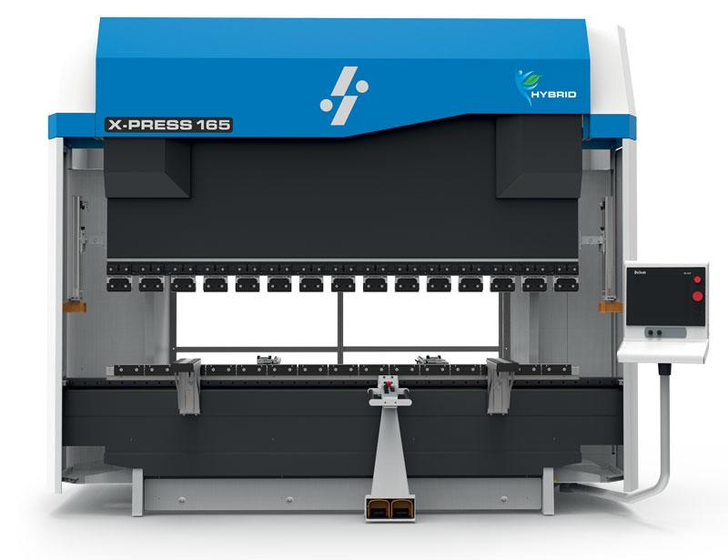 La pressa piegatrice X-Press Next Hybrid è dotata di un innovativo impianto idraulico che la rende ancora più ecologica e performante.
