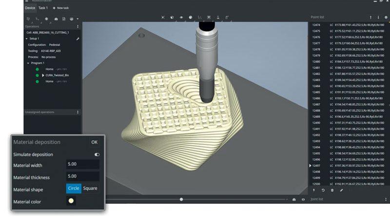 Nella versione 7.3 è stato aggiunto un modulo di simulazione del deposito di materiale durante la produzione additiva.