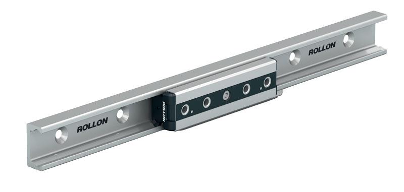 I cuscinetti montati sulle Compact Rail sono di grandi dimensioni, capaci di oltrepassare le impurità presenti sulla guida.