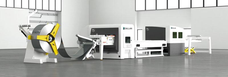 La linea combinata Dallan CXN lavora nastri da 200 fino a 1.000 mm di larghezza.