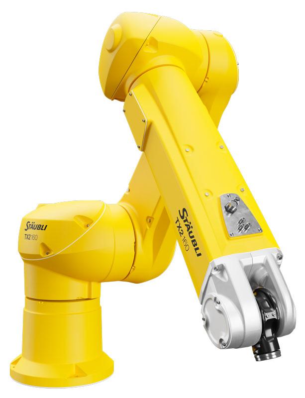 Stäubli TX2-140: i nuovi modelli nella gamma media offrono una capacità di carico impressionante di ben 40 kg.