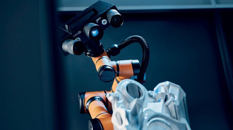GOM propone una nuova stazione di misura mobile basata su un robot collaborativo e potente scanner 3D