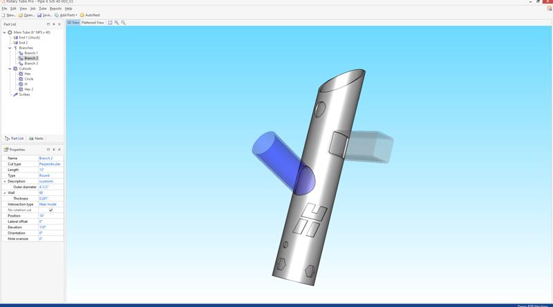 Software per il taglio di tubi e condutture