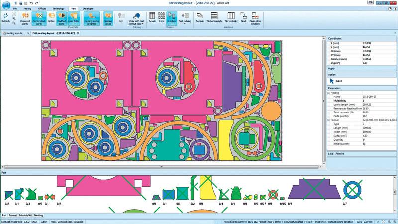 AlmaCAM, il software Alma per il taglio 2D, è un tassello fondamentale di tutto il flusso produttivo.