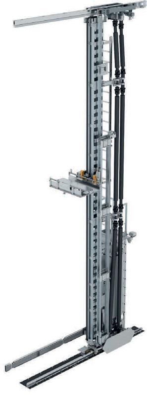 Grazie all'innovativa tecnica di azionamento, i traslo elevatori WINKEL_ Colibrì sono più leggeri e robusti e con ciò anche dinamici. E ciò ne aumenta anche la capacità produttiva.