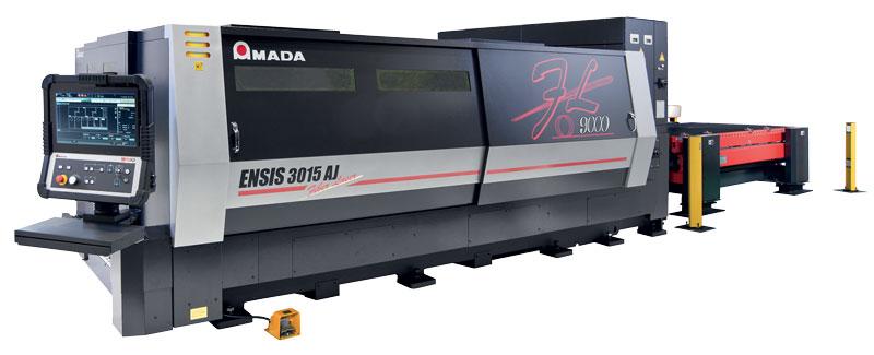 Sistema di taglio ENSIS 3015 AJ: AMADA ha a disposizione un ampio range di potenze a partire dal 3 kW fino ad arrivare al 9 kW.
