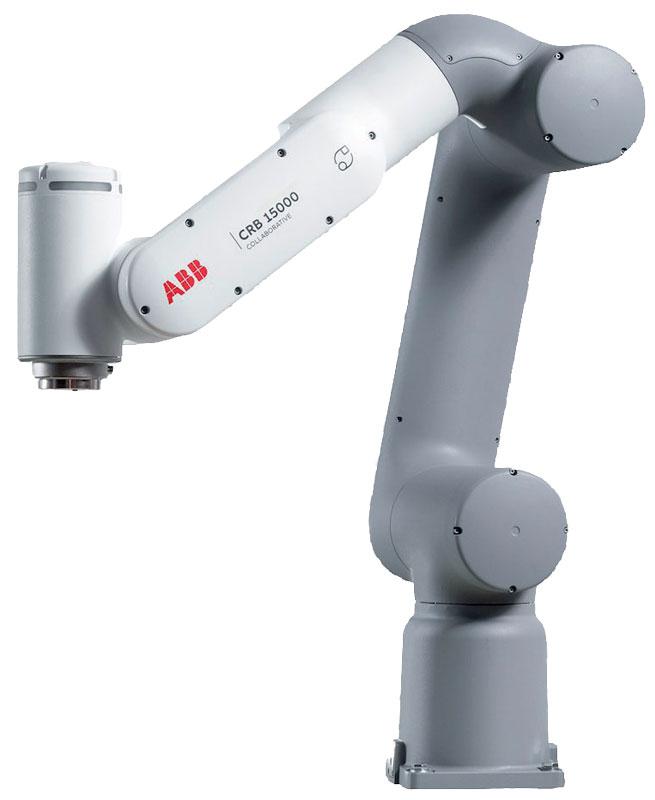 Il robot collaborativo GoFa™ CRB 15000 di facile utilizzo è dotato di sensori intelligenti in ogni giunto per supportare una stretta collaborazione tra uomo e robot, consentendo uno sbraccio e una velocità straordinaria con una capacità di carico fino a 5 kg.
