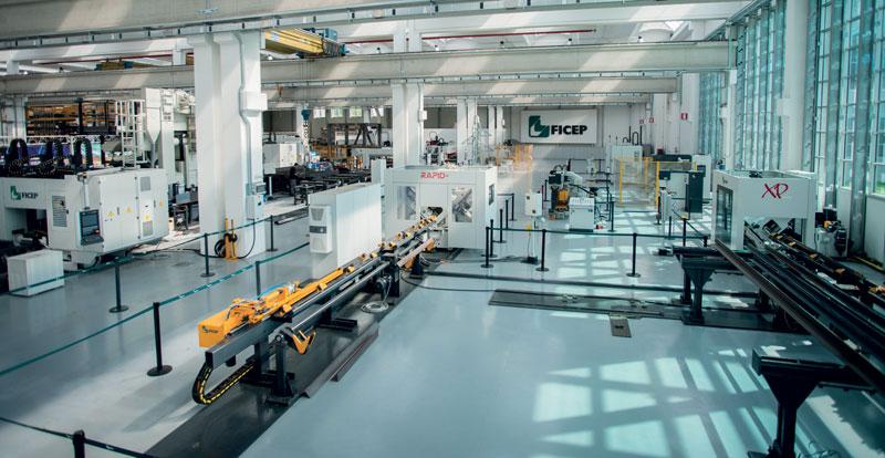 Ficep è leader mondiale nella costruzione di linee automatiche di lavorazione degli elementi strutturali per carpenteria metallica.