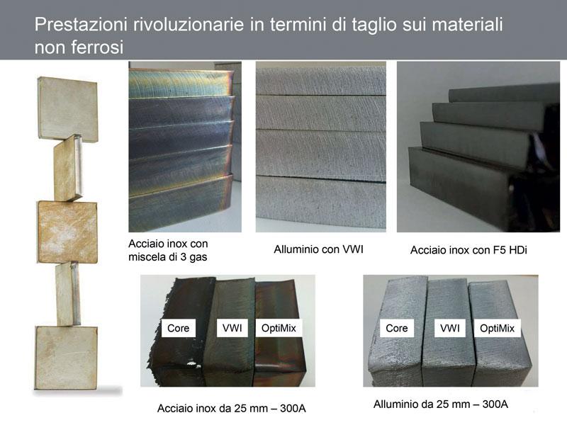 XPR (X definition) assicura prestazioni rivoluzionarie nel taglio di materiali non ferrosi.
